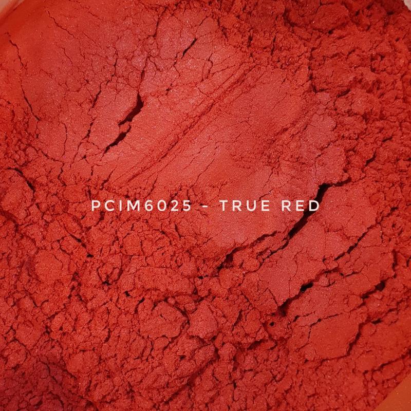Косметический пигмент PCIM6025 True Red (Истинно-красный), 10-60 мкм