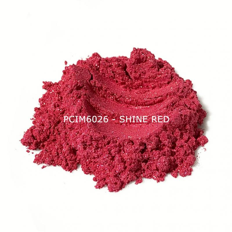 Косметический пигмент PCIM6026 Shine Red (Сияющий красный), 10-60 мкм