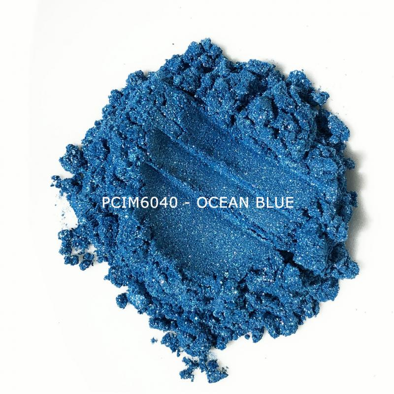 Косметический пигмент PCIM6040 Ocean Blue (Синий океан), 10-60 мкм