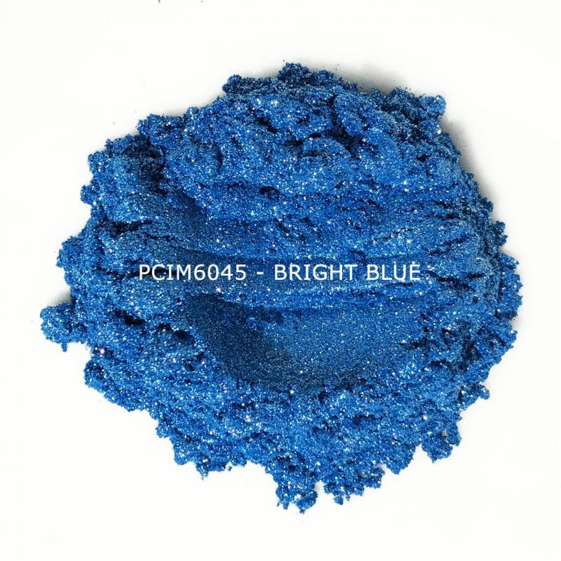Косметический пигмент PCIM6045 Bright Blue (Ярко-синий), 10-60 мкм