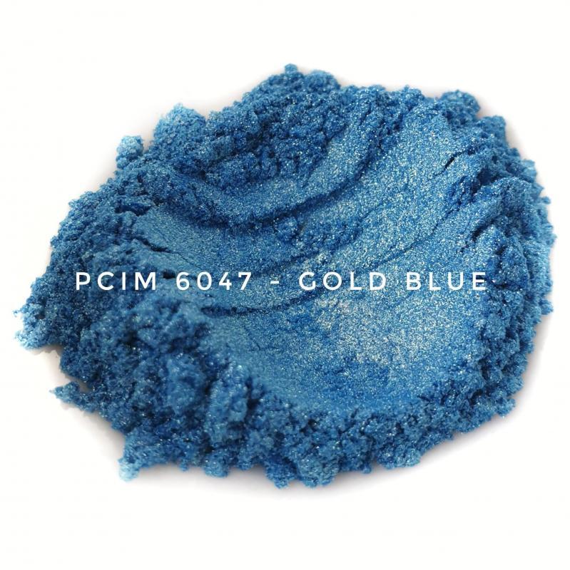 Косметический пигмент PCIM6047 Gold Blue (Золотисто-синий), 10-60 мкм