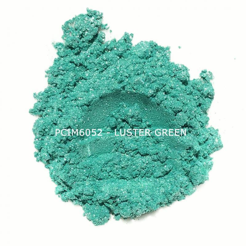 Косметический пигмент PCIM6052 Luster Green (Блестящий зеленый), 10-60 мкм