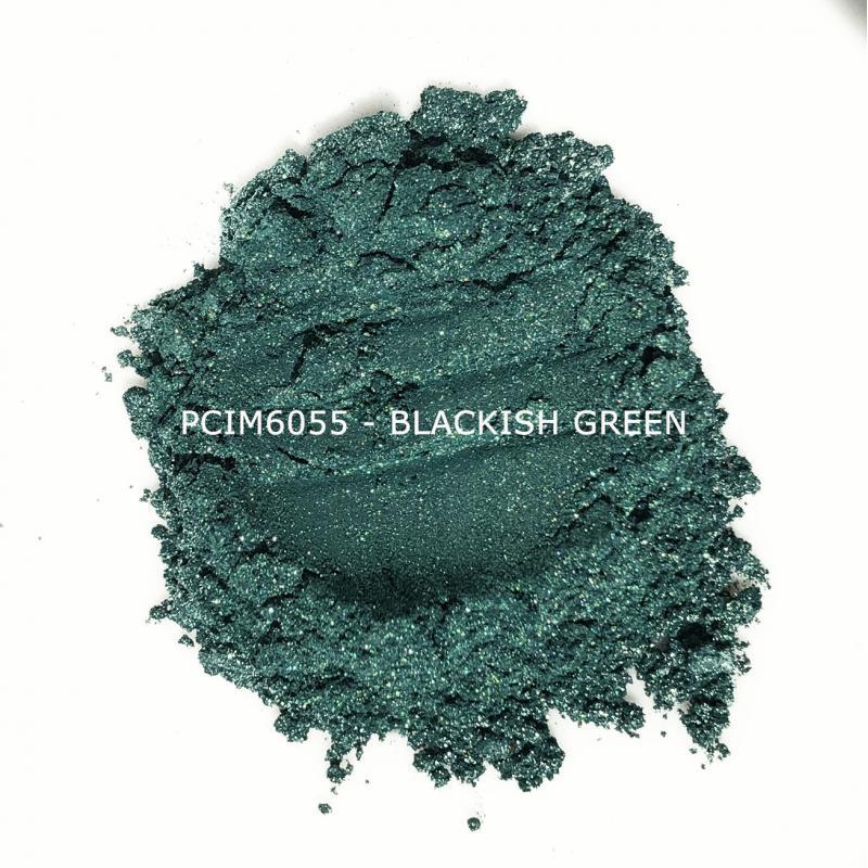Косметический пигмент PCIM6055 Blackish green (Черно-зеленый), 10-60 мкм
