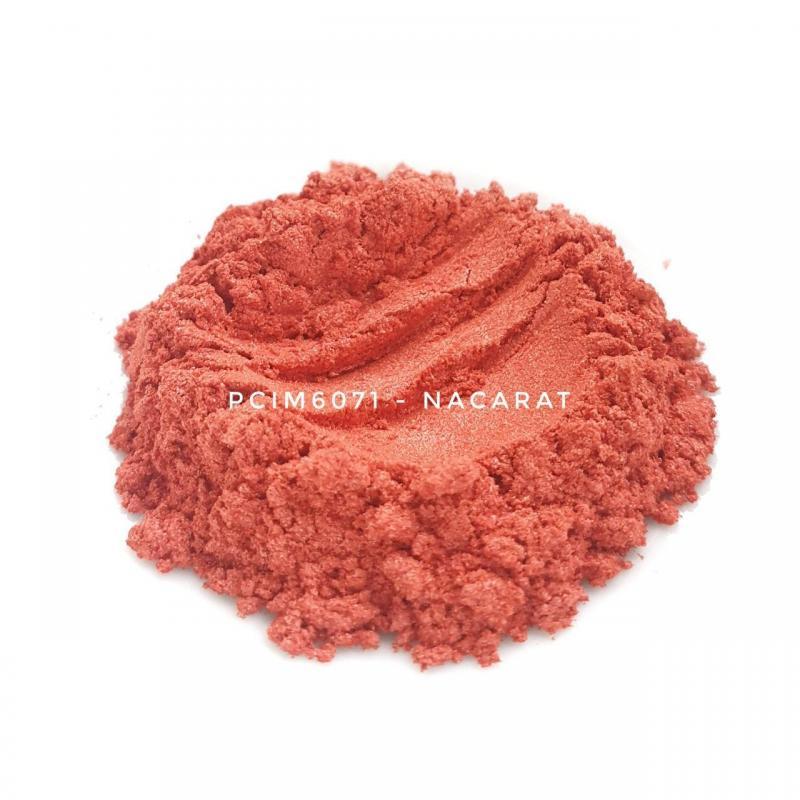 Косметический пигмент PCIM6071 Nacarat (Оранжево-красный), 10-60 мкм