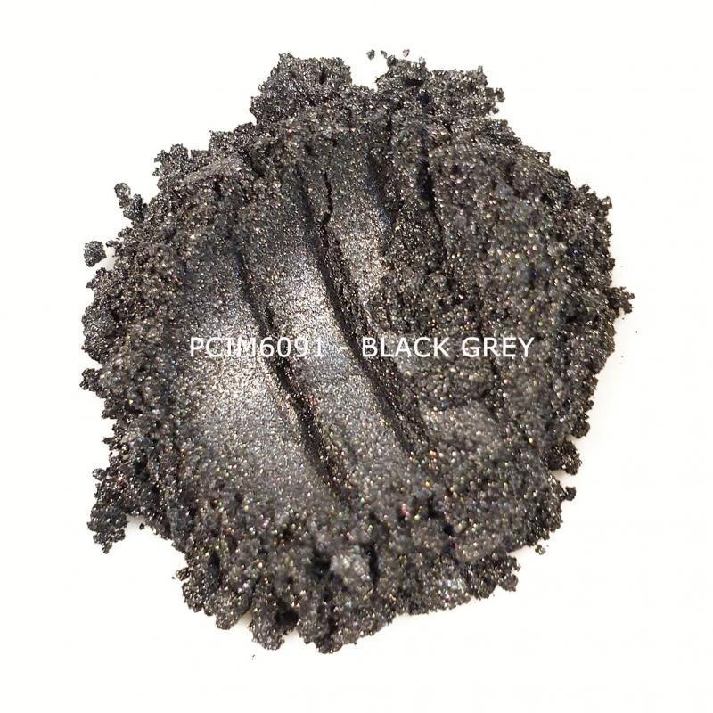 Косметический пигмент PCIM6091 Black Grey (Черно-серый), 10-60 мкм