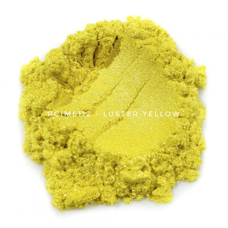 Косметический пигмент PCIM6112 Luster Yellow (Блестящий желтый), 10-60 мкм