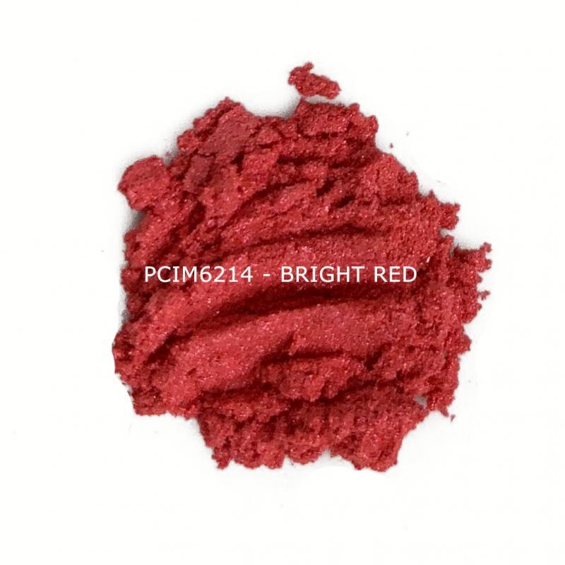 Косметический пигмент PCIM6214 Bright Red (Ярко-красный), 10-60 мкм