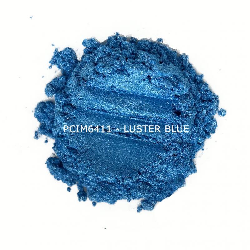 Косметический пигмент PCIM6411 Luster Blue (Блестящий голубой), 10-60 мкм