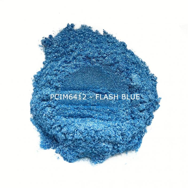 Косметический пигмент PCIM6412 Flash Blue (Вспыхивающий голубой), 10-100 мкм
