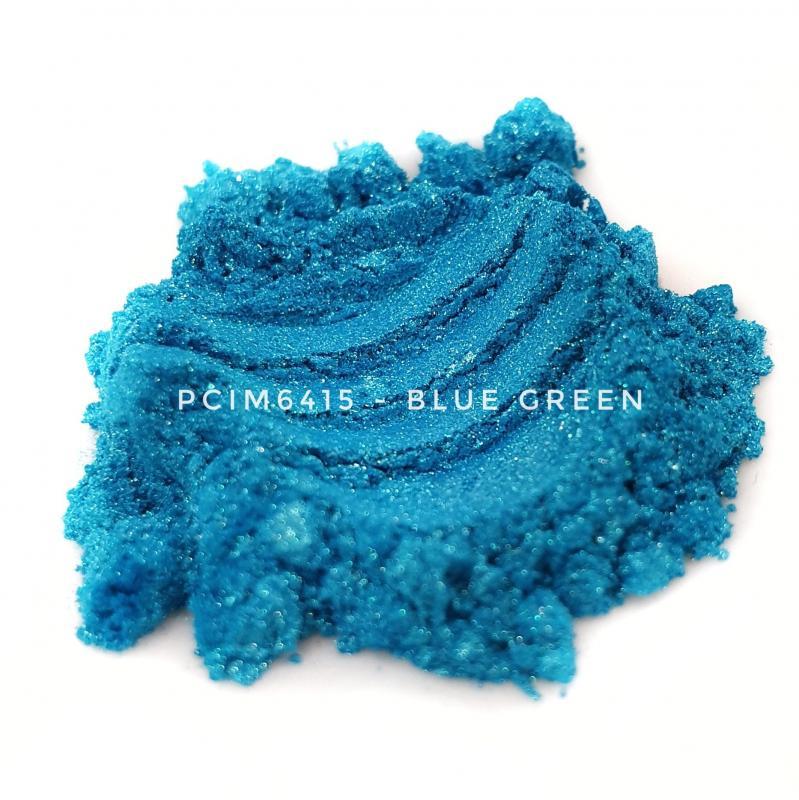 Косметический пигмент PCIM6415 Blue Green (Сине-зеленый), 10-60 мкм