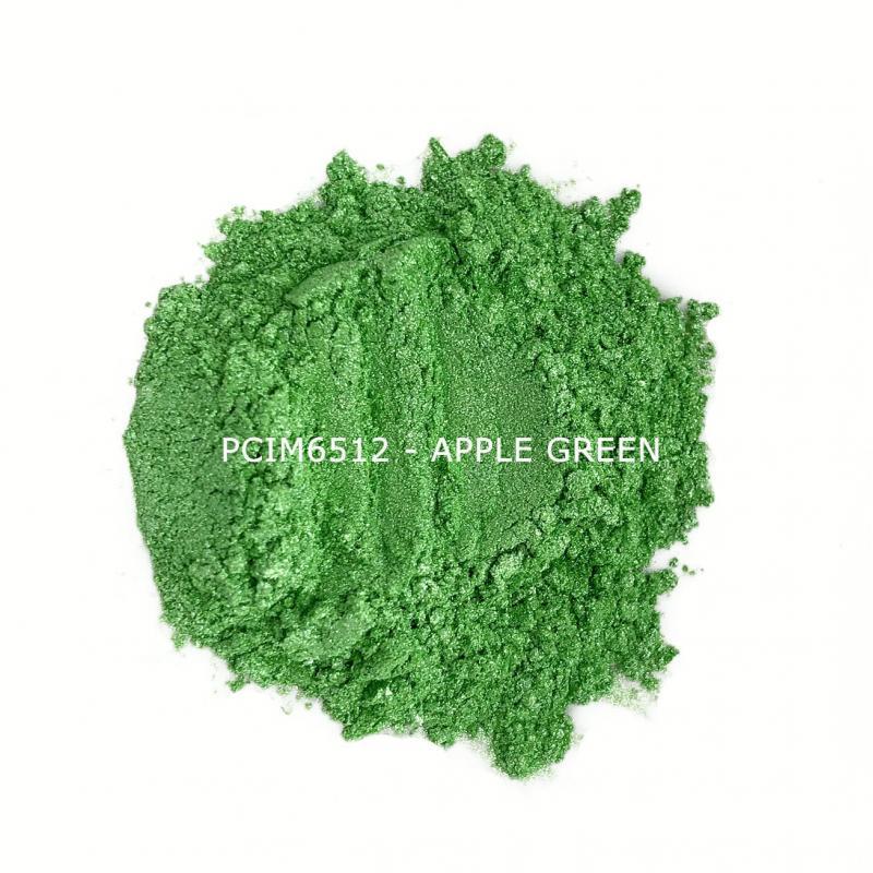 Косметический пигмент PCIM6512 Apple Green (Зеленое яблоко), 10-60 мкм