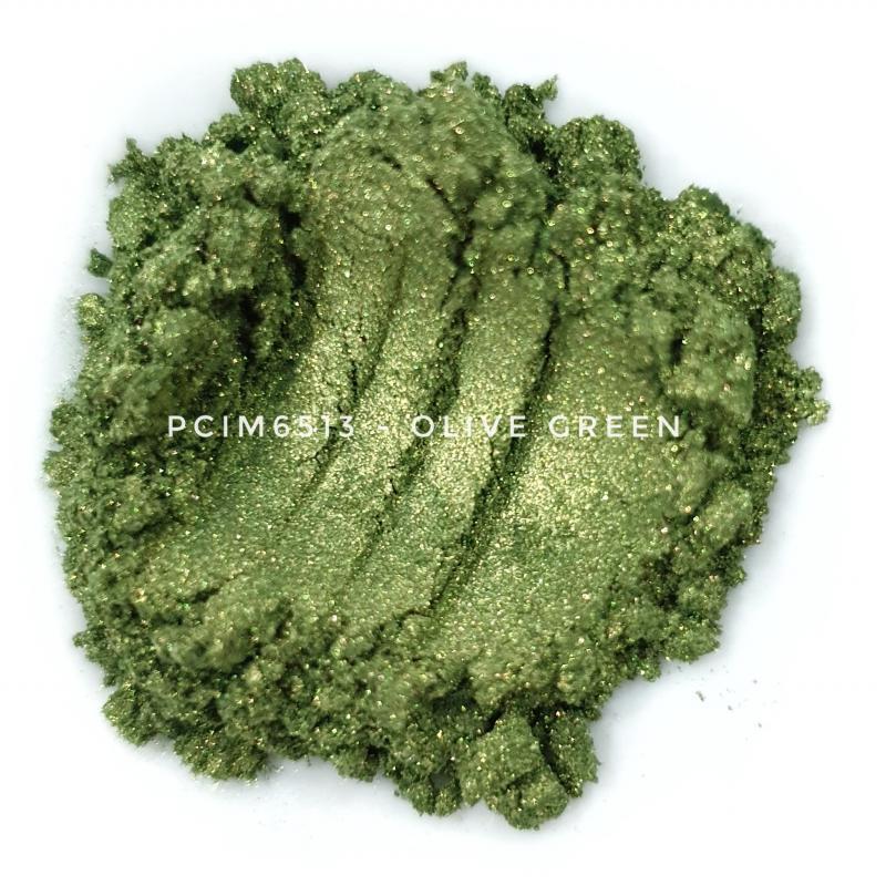 Косметический пигмент PCIM6513 Olive Green (Оливково-зеленый), 10-60 мкм