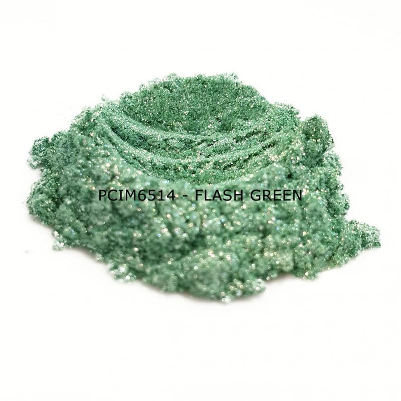 Косметический пигмент PCIM6514 Flash Green (Вспыхивающий зеленый), 10-100 мкм