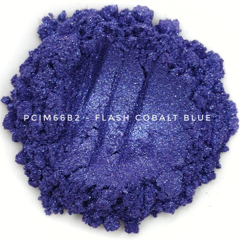 Косметический пигмент PCIM66B2 Flash Cobalt Blue (Вспыхивающий кобальтово-синий), 20-100 мкм