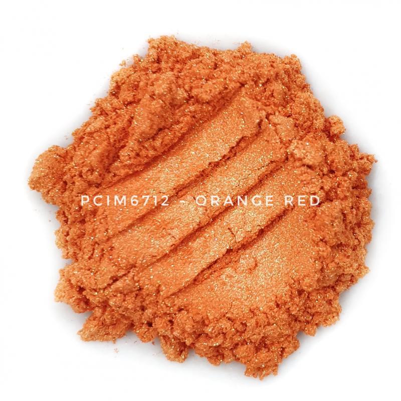 Косметический пигмент PCIM6712 Orange Red (Оранжево-красный), 10-60 мкм