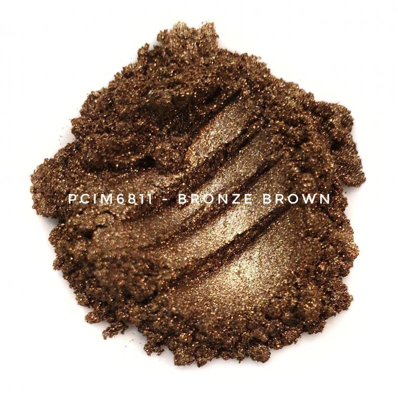 Косметический пигмент PCIM6811 Bronze Brown (Коричневая бронза), 10-60 мкм