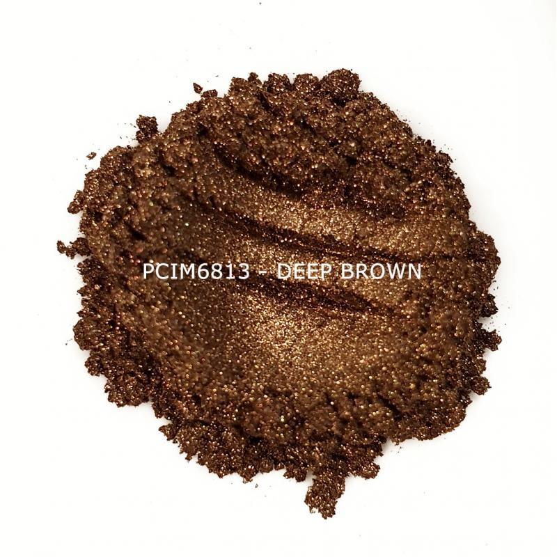 Косметический пигмент PCIM6813 Deep Brown (Темно-коричневый), 10-60 мкм
