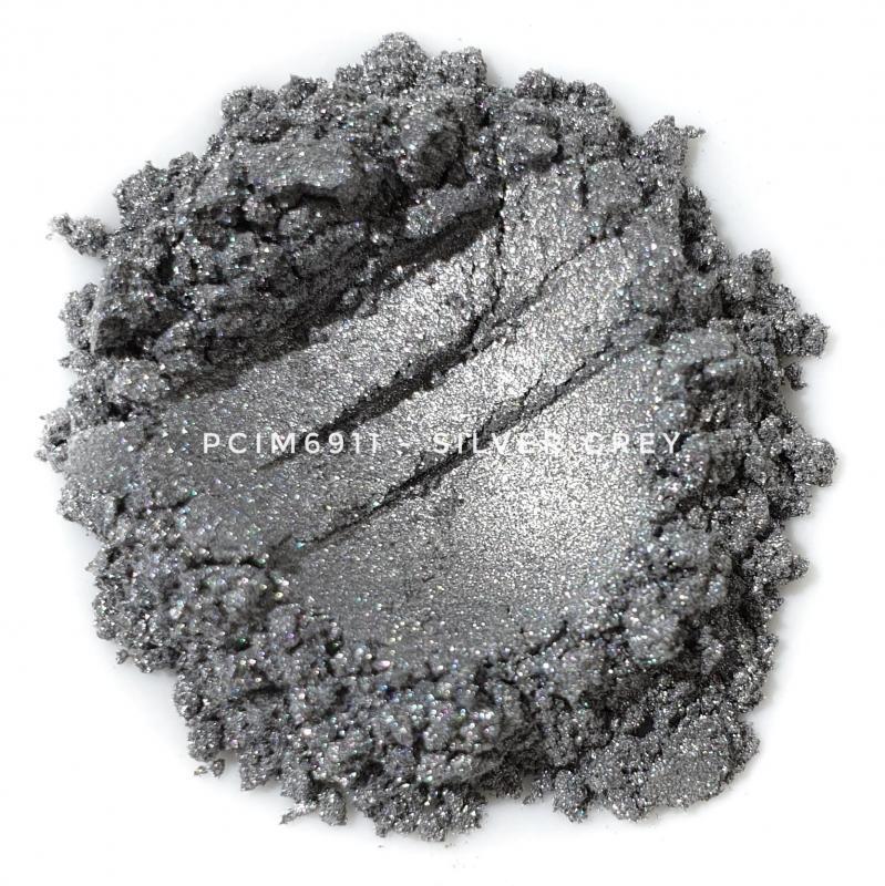 Косметический пигмент PCIM6911 Silver Grey (Серебристо-серый), 10-60 мкм