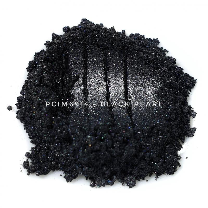 Косметический пигмент PCIM6914 Black Pearl (Черный перламутр), 10-60 мкм
