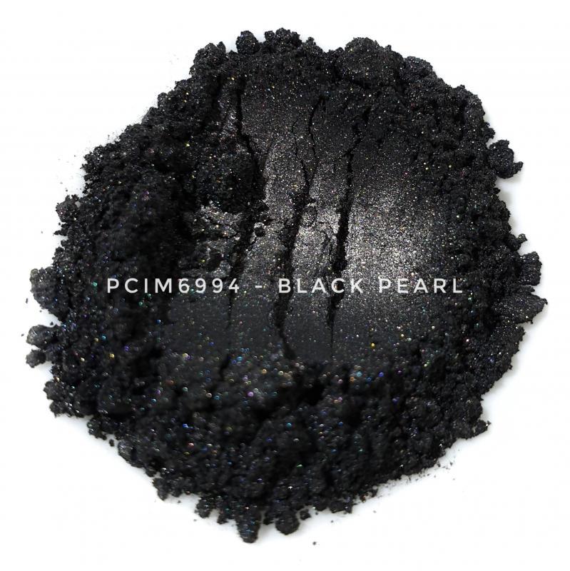 Косметический пигмент PCIM6994 Black Pearl (Черный перламутр), 10-60 мкм