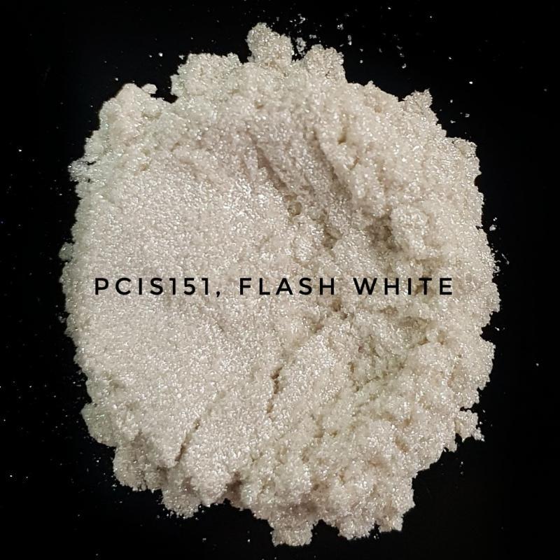 Косметический пигмент PCIS151 Flash White (Вспыхивающий белый), 10-100 мкм