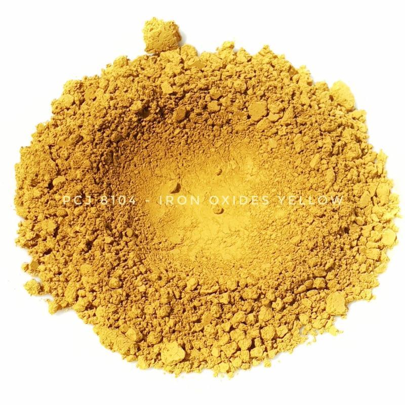 Косметический пигмент PCJ8104 Iron Oxides Yellow (CI 77492) (Железооксидный желтый), 0-1 мкм