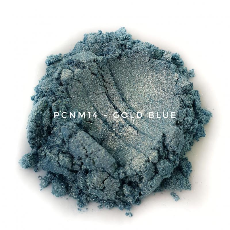 Косметический пигмент PCNM14 Gold Blue (Голубое золото), 10-60 мкм