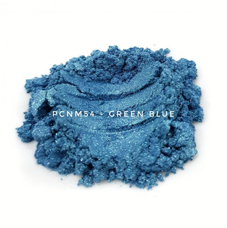 Косметический пигмент PCNM54 Green Blue (Зелено-синий), 10-60 мкм