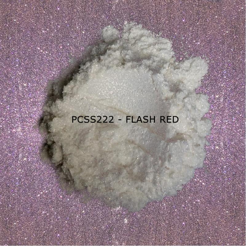 Косметический пигмент PCSS222 Flash Red (Вспыхивающий красный), 20-100 мкм