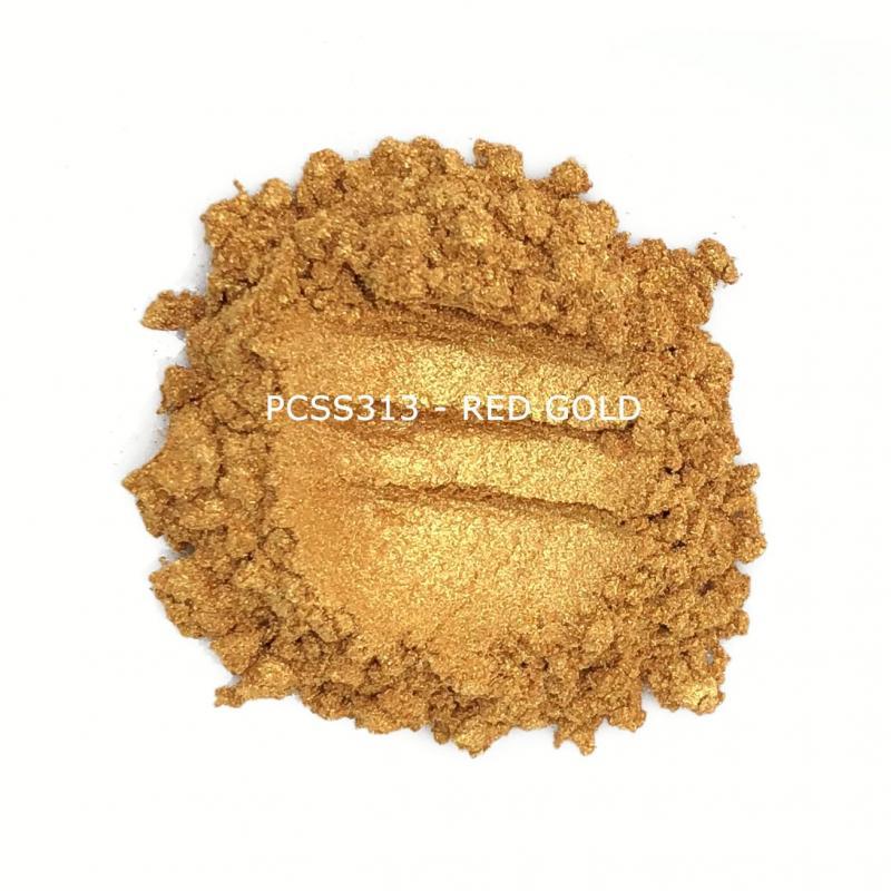 Косметический пигмент PCSS313 Red Gold (Красное золото), 10-60 мкм