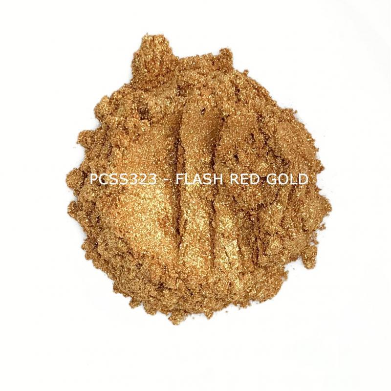 Косметический пигмент PCSS323 Flash Red Gold (Крупное красное золото), 20-100 мкм