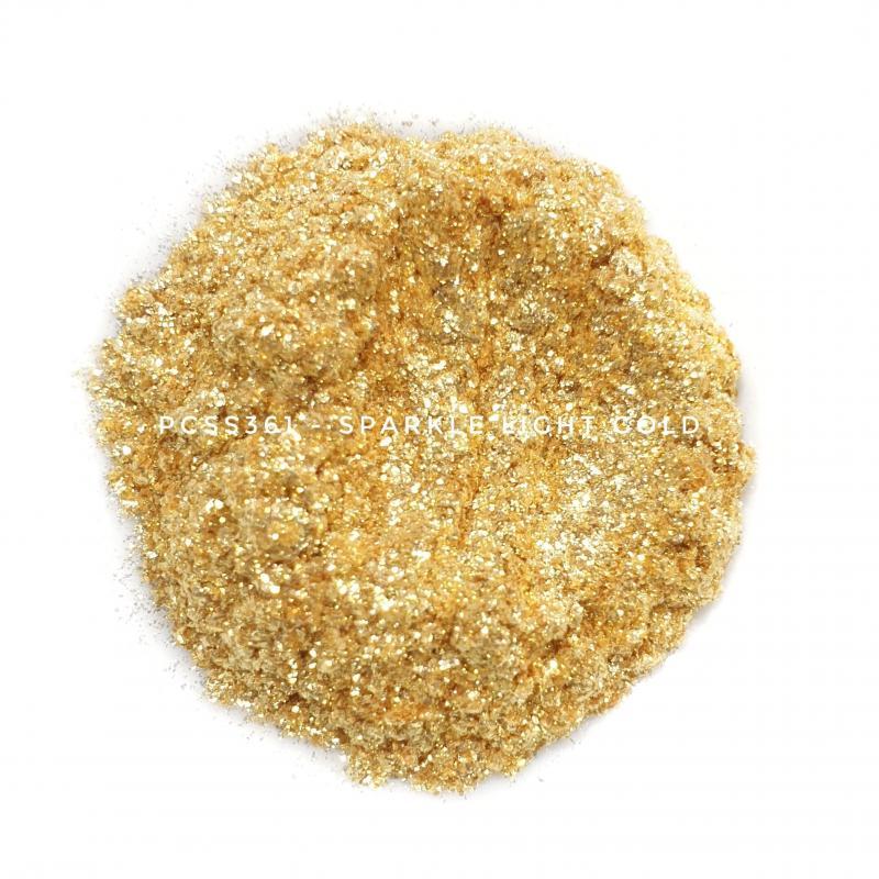 Косметический пигмент PCSS361 Sparkle Light Gold (Искрящееся светлое золото), 60-300 мкм