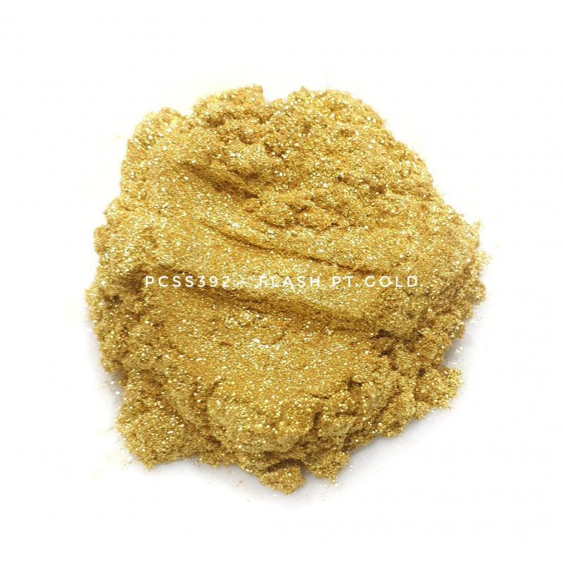 Косметический пигмент PCSS392 Flash Pt Gold (Вспыхивающее платиновое золото), 10-100 мкм