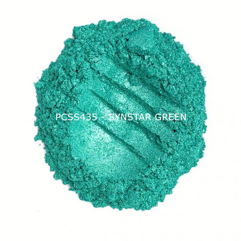 Косметический пигмент PCSS435 Synstar Green (Синтетический зеленый), 10-60 мкм