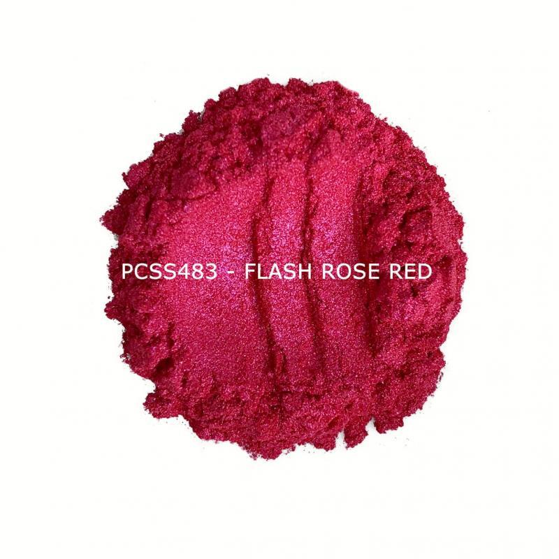 Косметический пигмент PCSS483 Flash Rose Red (Вспыхивающее розовое золото), 10-100 мкм
