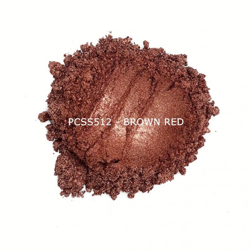 Косметический пигмент PCSS512 Brown Red (Коричнево-красный), 10-60 мкм