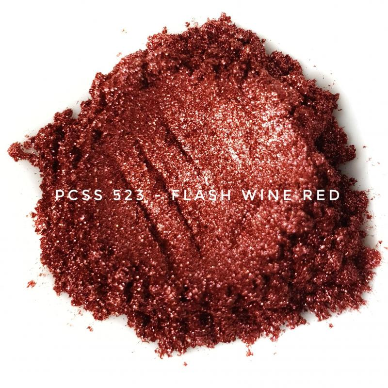 Косметический пигмент PCSS523 Flash Wine Red (Вспыхивающий винно-красный), 20-100 мкм