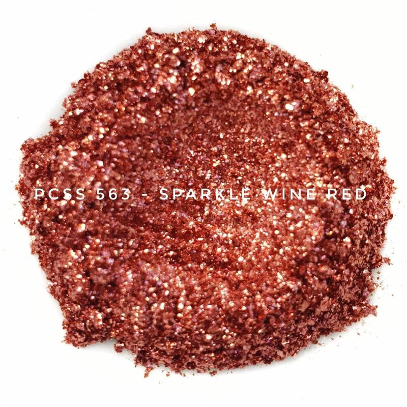 Косметический пигмент PCSS563 Sparkle Wine Red (Искристый винно-красный), 60-300 мкм