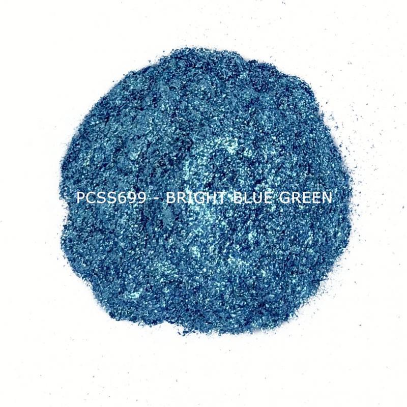 Косметический пигмент PCSS699 Bright Blue Green (Яркий сине-зеленый), 30-150 мкм