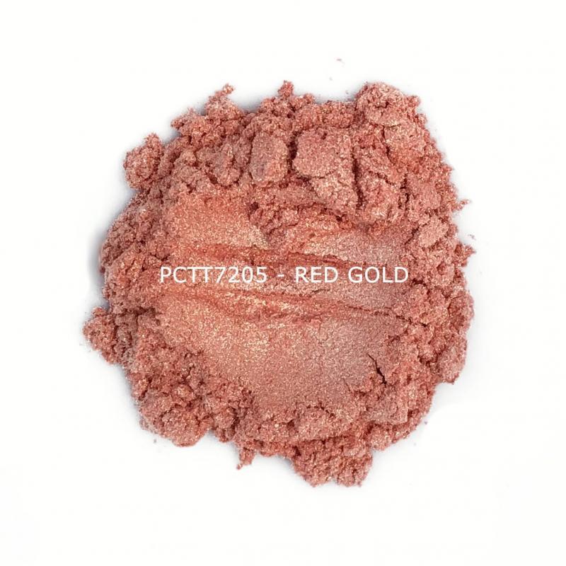 Косметический пигмент PCTT7205 Red gold (Красно-золотистый), 10-60 мкм