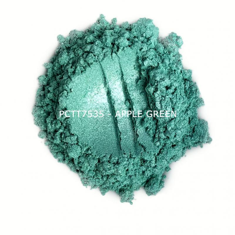 Косметический пигмент PCTT7535 Apple Green (Зеленое яблоко), 10-60 мкм