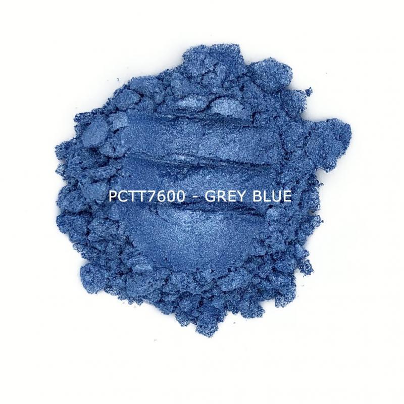 Косметический пигмент PCTT7600 Grey Blue (Серо-голубой), 10-60 мкм