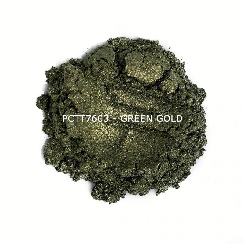 Косметический пигмент PCTT7603 Green Gold (Зелено-золотой), 10-60 мкм