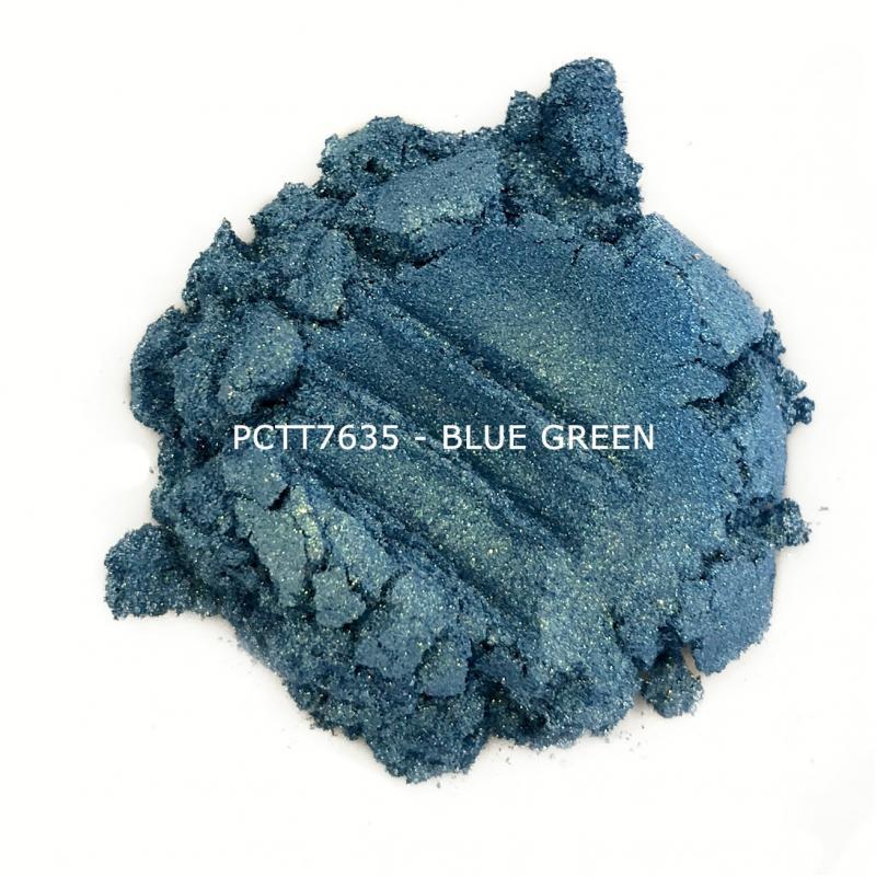 Косметический пигмент PCTT7635 Blue Green (Сине-зеленый), 10-60 мкм