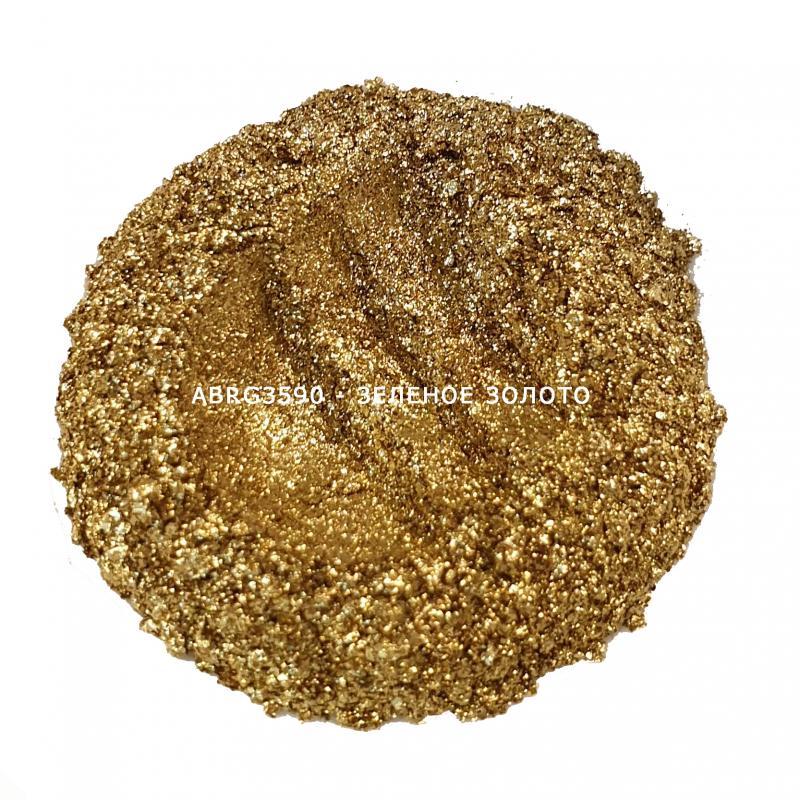 Индустриальный пигмент ABRG3590 Rich Gold (Зеленое золото), 35-90 мкм
