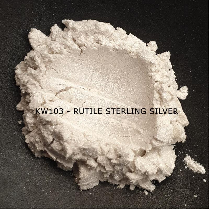 Индустриальный пигмент KW103 Rutile Sterling Silver (Рутильный серебряный), 10-60 мкм