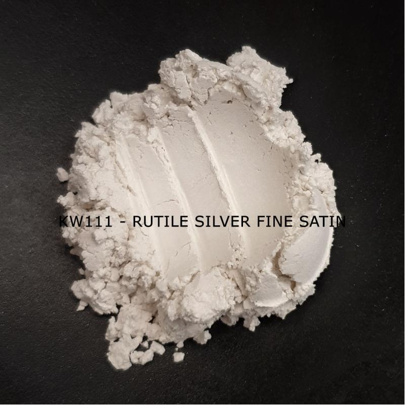 Индустриальный пигмент KW111 Rutile Silver Fine Satin (Рутильное атласное серебро), 0-15 мкм