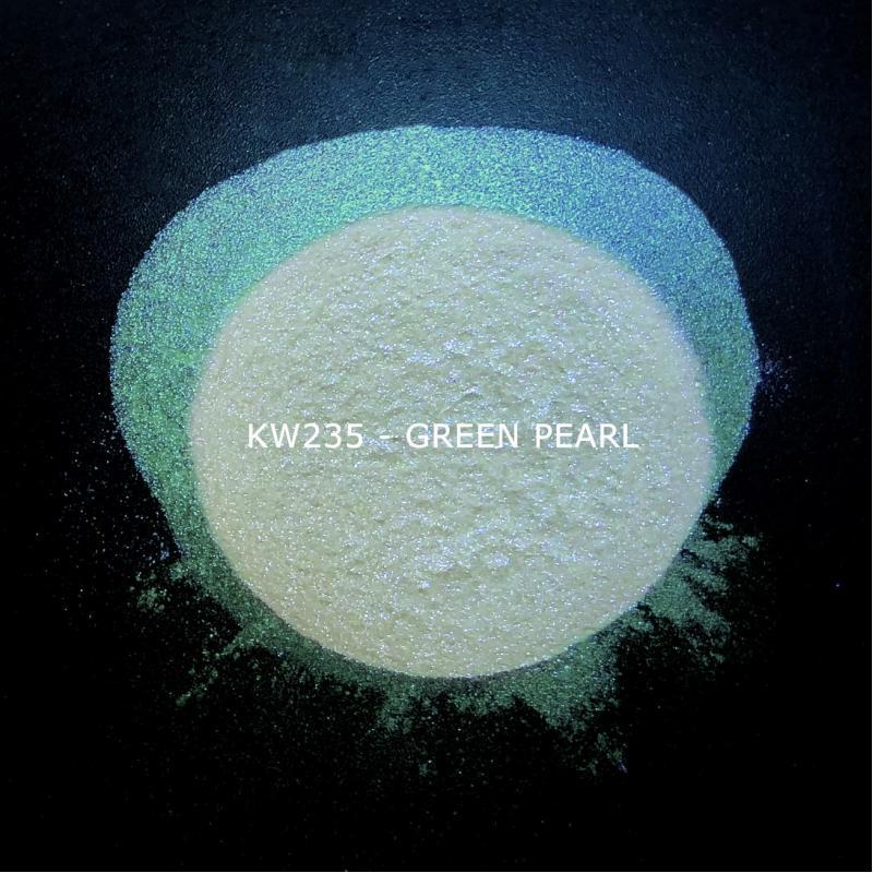 Индустриальный пигмент KW235 Green pearl (Зеленый перламутр), 10-60 мкм
