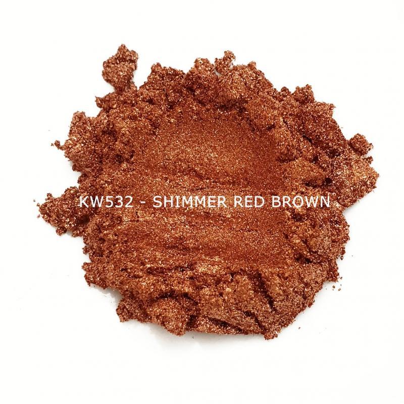 Индустриальный пигмент KW532 Shimmer red-brown (Мерцающий красно-коричневый), 10-100 мкм