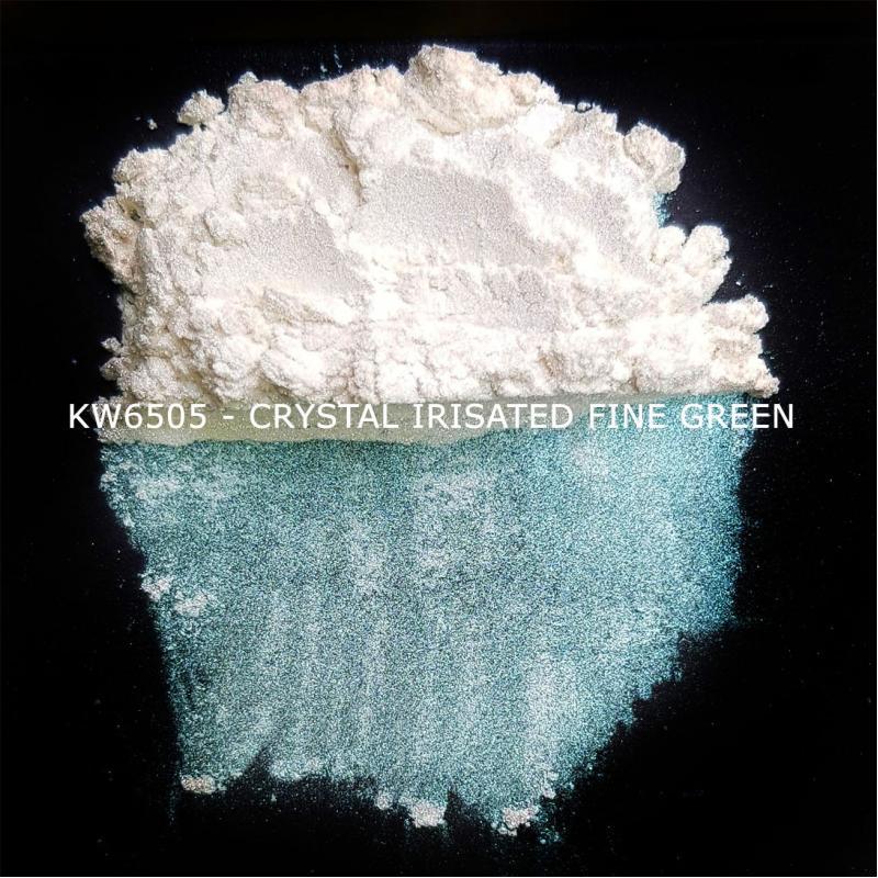 Индустриальный пигмент KW6505 Crystal Irisated Fine Green (Зеленый), 10-60 мкм
